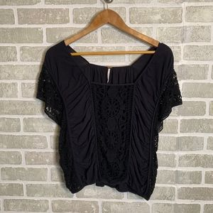 Free People Black Women's Crochet Top